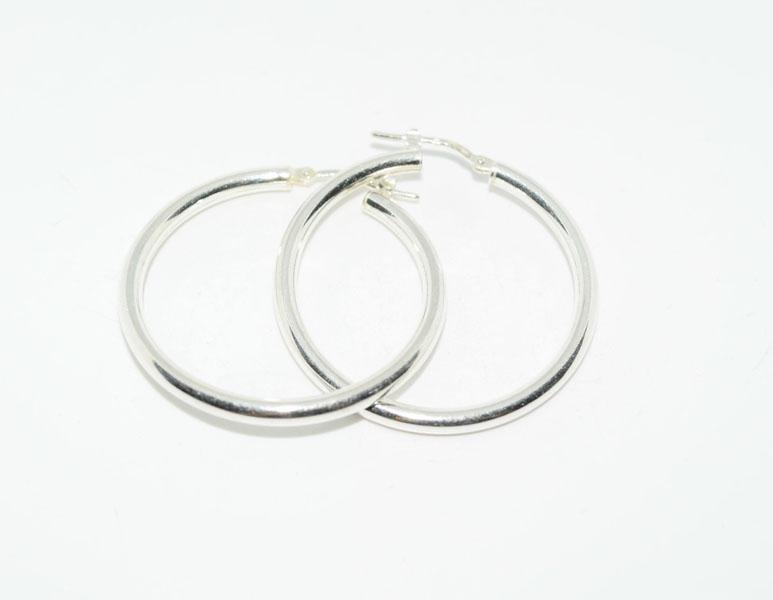 Sterling Silver Round Hoop Earrings