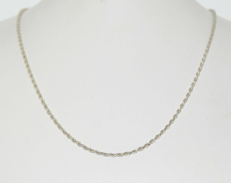 18inch Italy Sterling Rope Chain Necklace