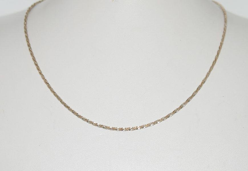 Italy Sterling Silver 16inch Roc Chain