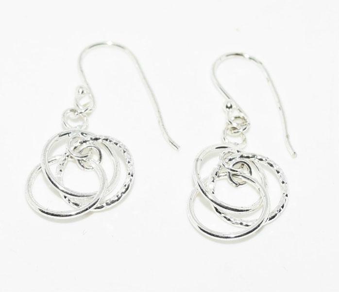 Tested Sterling Circles Hook Earrings