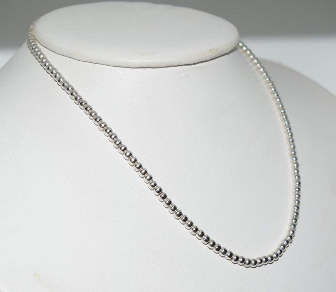 14inch Sterling Silver Beaded Necklace