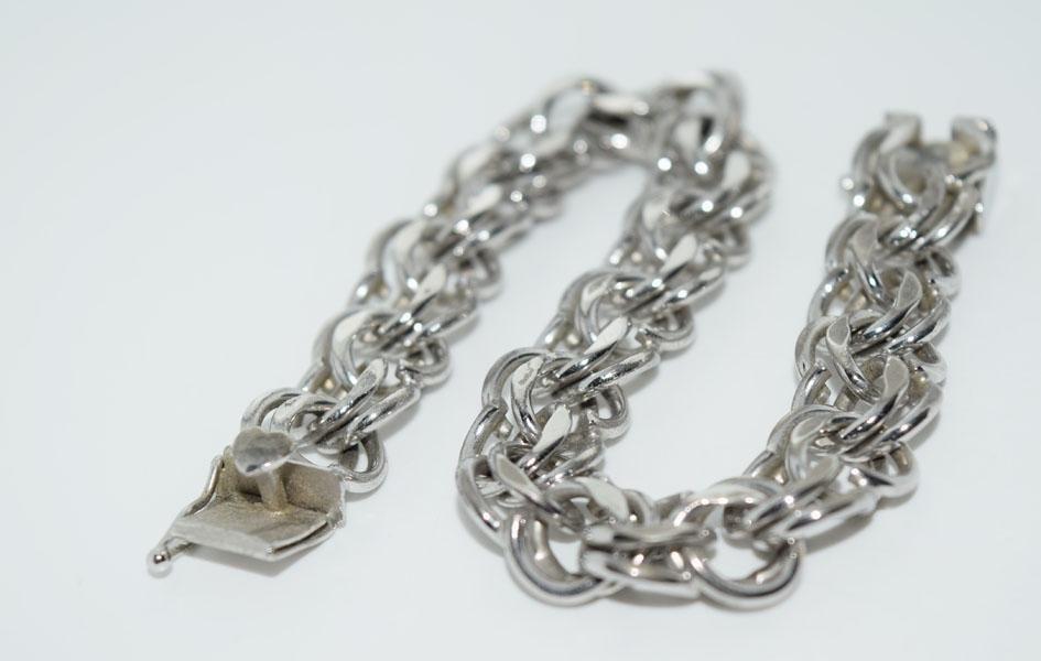 Vintage Sterling Silver Unique Link 7inch Bracelet