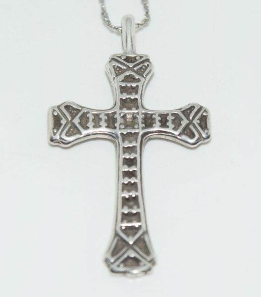 Sterling Silver Unique Design Cross Necklace