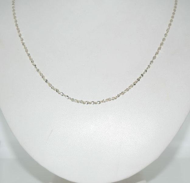 Sterling Silver 30inch Unique Link Chain Necklace