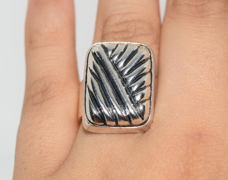 Mexico Sterling Cable Design Ring Sz6.5