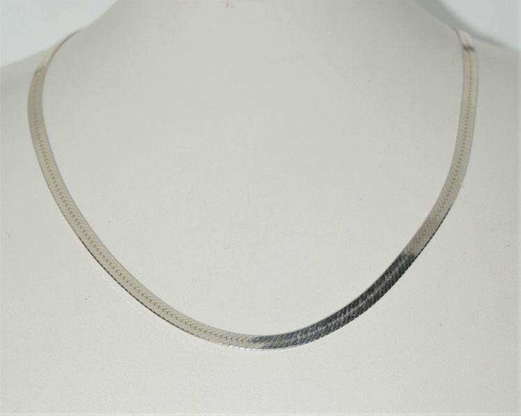 Italy Sterling 4mm 18inch Herringbone Necklace