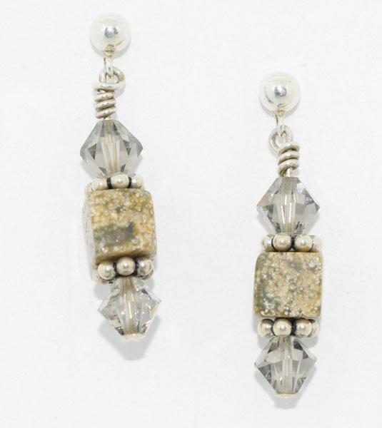 Sterling Natural Stone Beaded Earrings