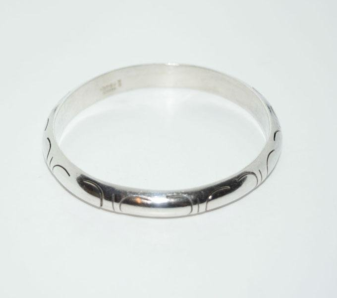 Mexico Sterling Dome Bangle Bracelet