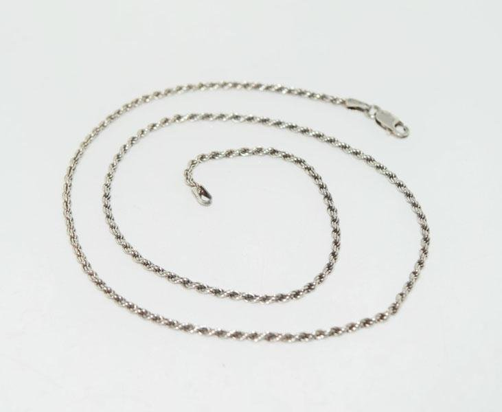 Italy Sterling 18inch Rope Chain Necklace