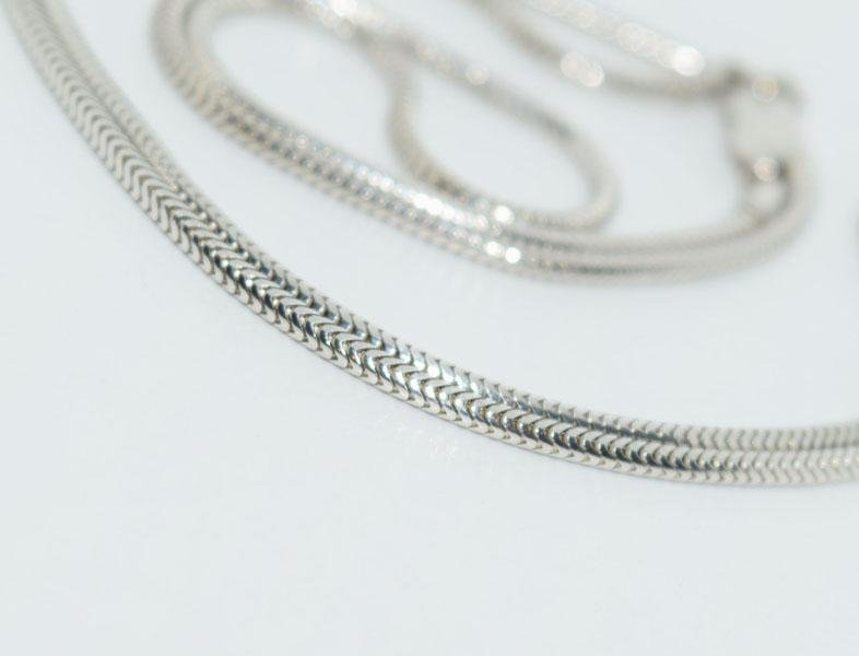 Sterling Silver 17inch Snake Chain Necklace