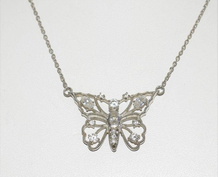 Sterling Silver Cut out Butterfly Necklace