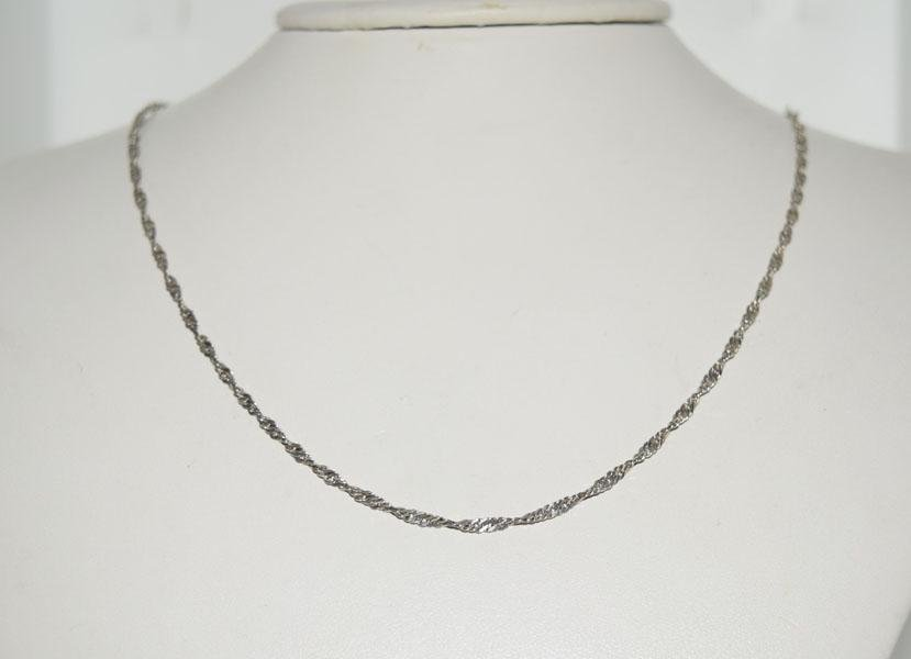 Italy Sterling Silver 26inch Curb Link Chain