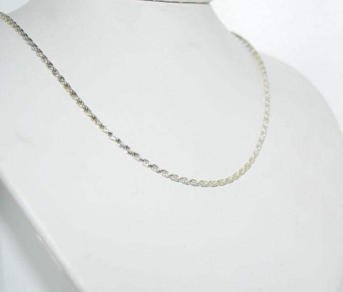 Italy Sterling Silver 18inch 2mm Rope Chain