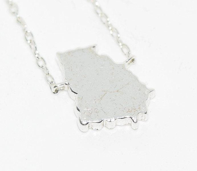 Sterling Georgia State Necklace