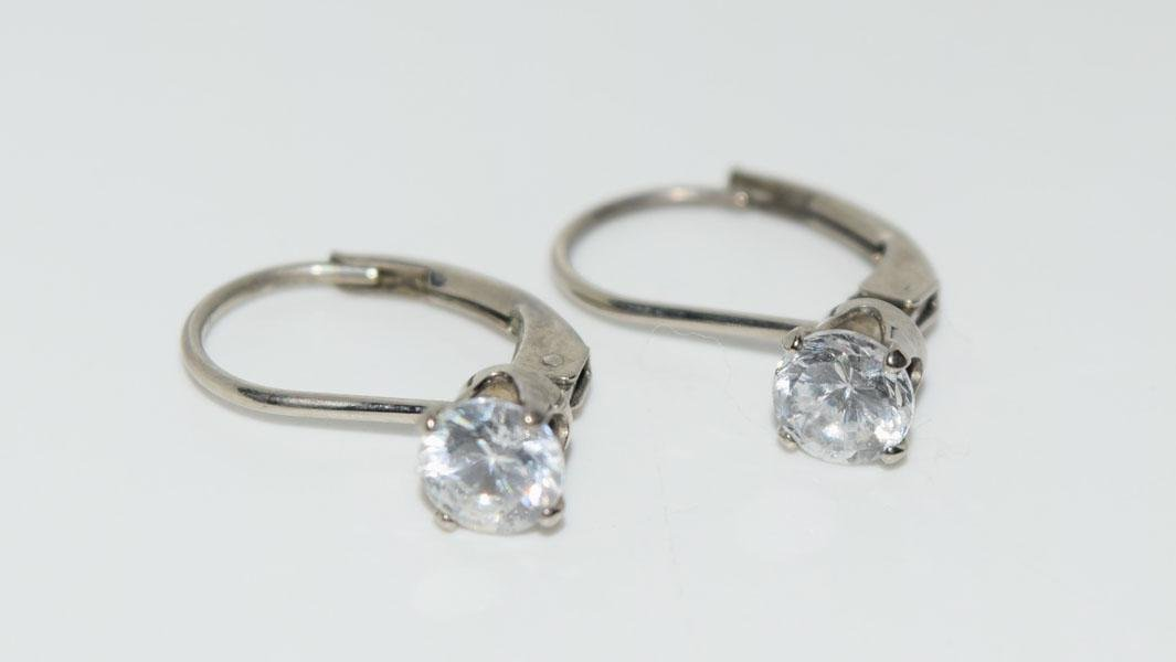 Sterling 5mm Solitaire Lever Earrings