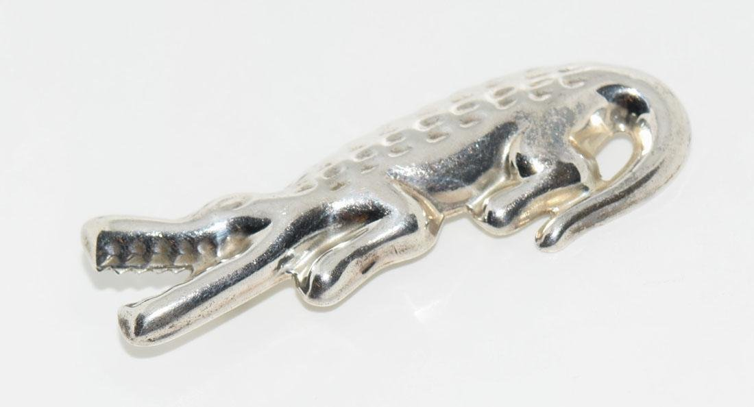 Mexico Sterling Hallow Alligator Brooch