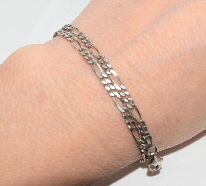 Italy Sterling Figaro Chain 10inch Ankle/Bracelet