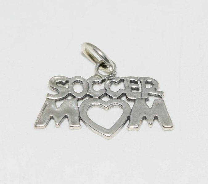 Sterling Silver Soccer Mom Charm