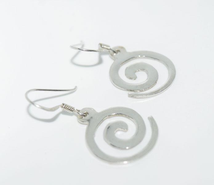 Sterling Silver Swirl Dangle Earrings