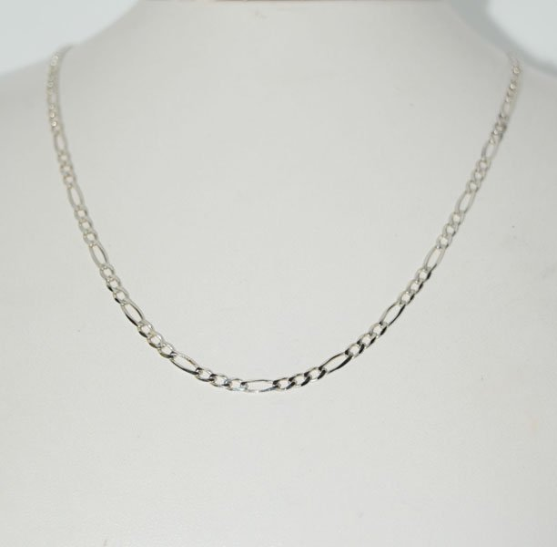 Sterling Thin 20inch Figaro Chain Necklace