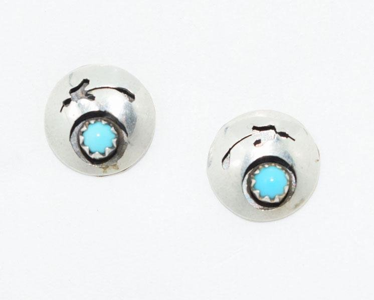 Tested Sterling Cut Out Southwestern Earrings