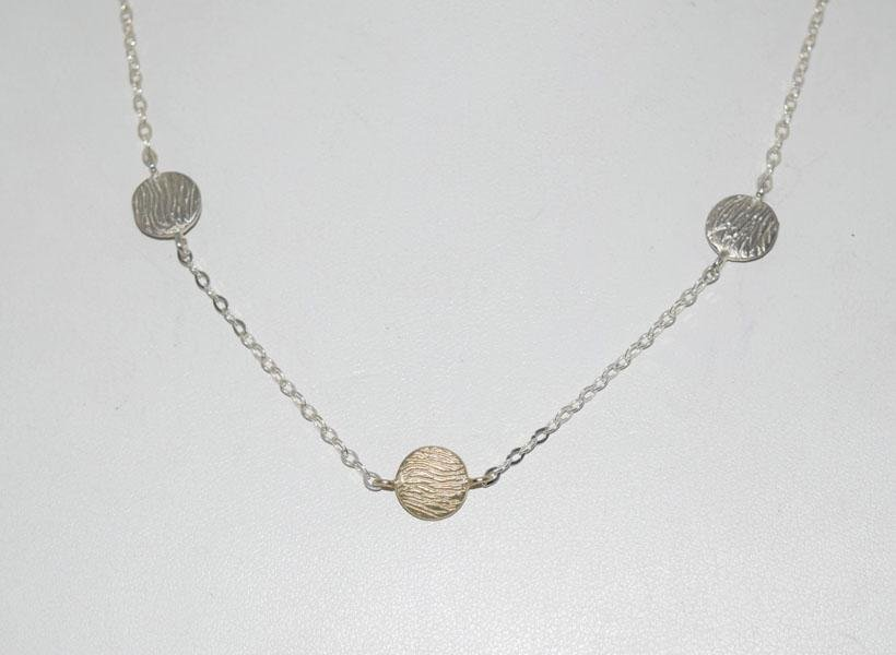 Signed MJI Italian Sterling Silver Necklace