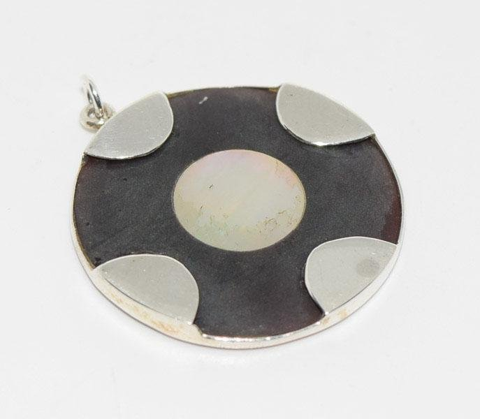 Tested Sterling Mother of Pearl Pendant
