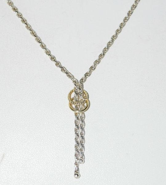 Sterling Rope Chain Lariat Necklace