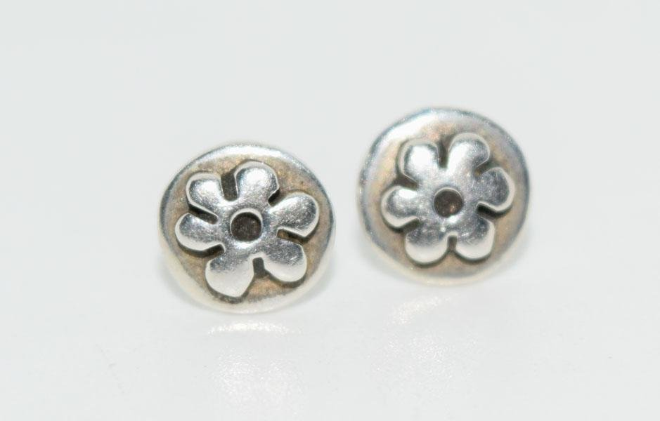 Far Fetched Sterling Flower Post Earrings