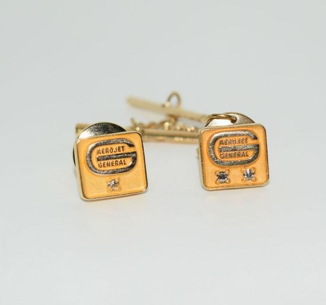 10K Gold Filled Aerojet General Lapel Pin Set