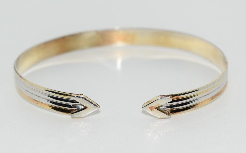 Sterling Adjustable Arrow Point Cuff Bracelet