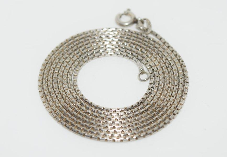Italy Sterling Unique Link 30.5inch Chain Necklace