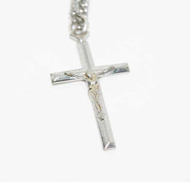 Sterling Silver Crucifix 24 Inch Necklace