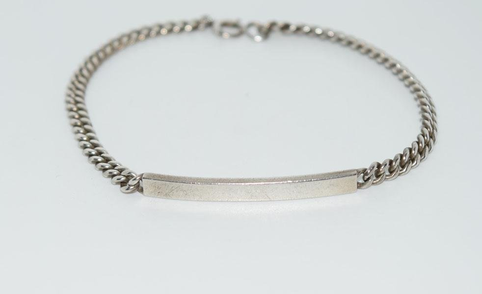 Sterling Silver 7inch Chain ID Bracelet