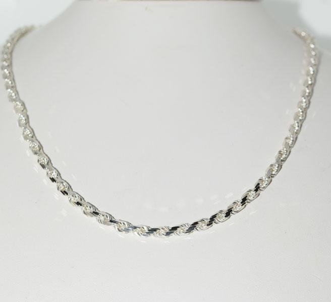 Host Pick Italy Sterling 17.75inch Rope Chain