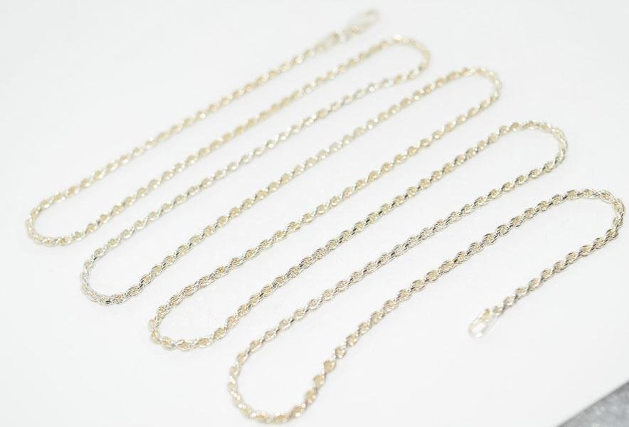 Italy Sterling Silver 30inch Rope Chain