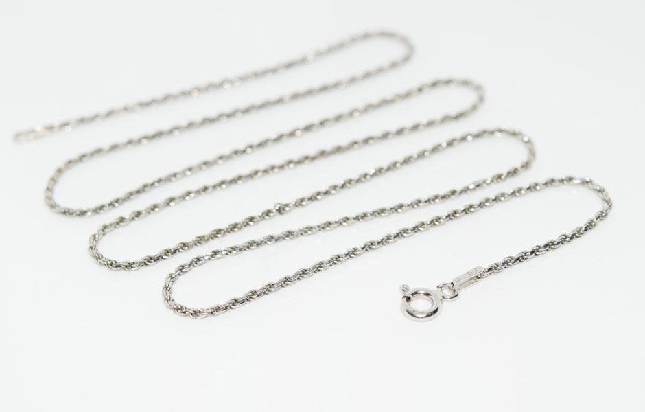 Italy Sterling 20inch 1mm Rope Chain