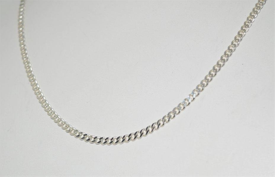 Italy Sterling Silver 18inch Curb Chain