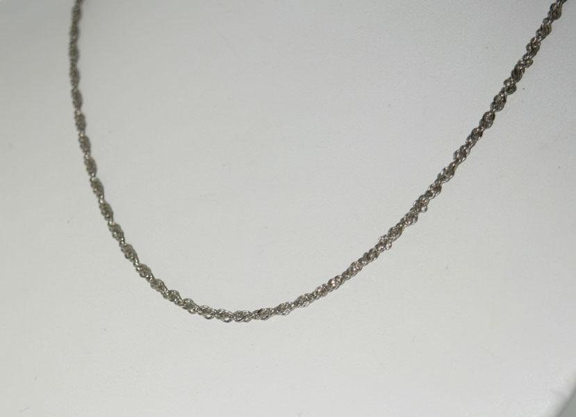 Vintage Italy Sterling 18inch Twisted Link Chain
