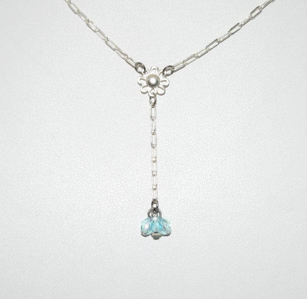 Dainty Sterling Flower Necklace