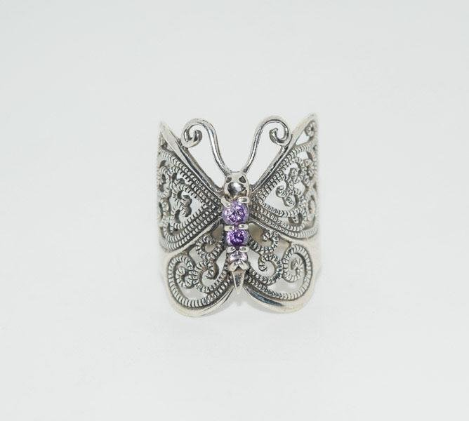 Sterling Cut out Butterfly Ring Sz7.5