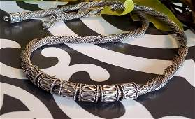 Sterling Silver Statement Wheat Chain