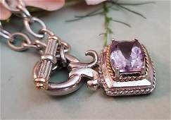 14k and Sterling Silver Amethyst Necklace