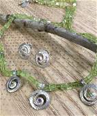 Caroline Ballou Sterling  14K Necklace  Earrings Set