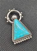 FRED PESHLAKAI Turquoise Dress Clip