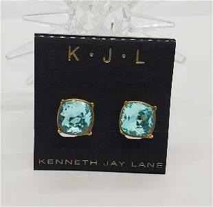 Kenneth J Lane Rhinestone Clip On Earrings