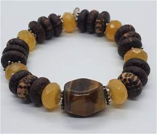Retired Silpada Natural Stone Bracelet B1362