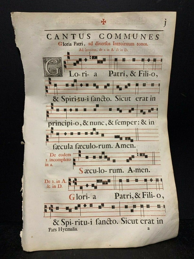 16th c Large Folio Antiphonal Leaf
