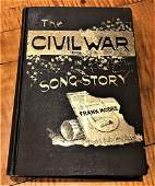 1889 The Civil War in Song and Story 1st Edition