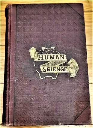 1873 Human Science or Phrenology, Physcology, 1st ed